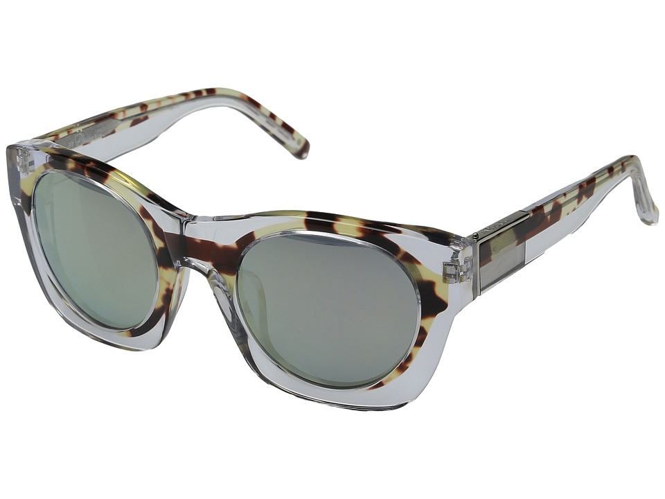 3.1 Phillip Lim PL130C3SUN Clear/Green Mirror Fashion Sunglasses
