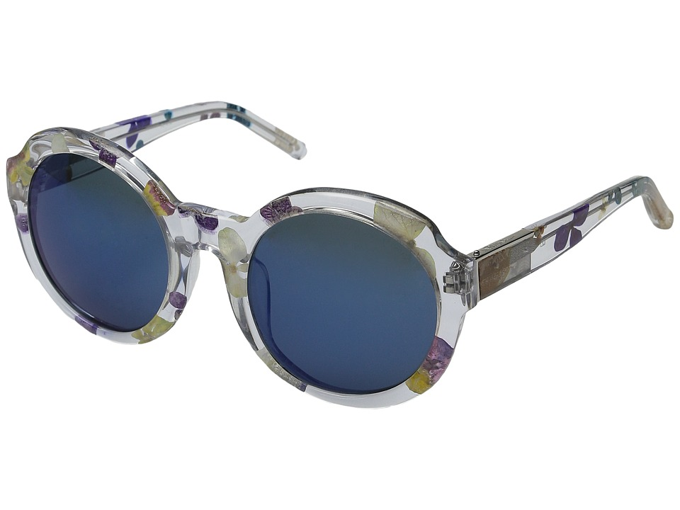 Image of 3.1 Phillip Lim - PL140C3SUN (Clear Ferns/Green Mirror) Fashion Sunglasses