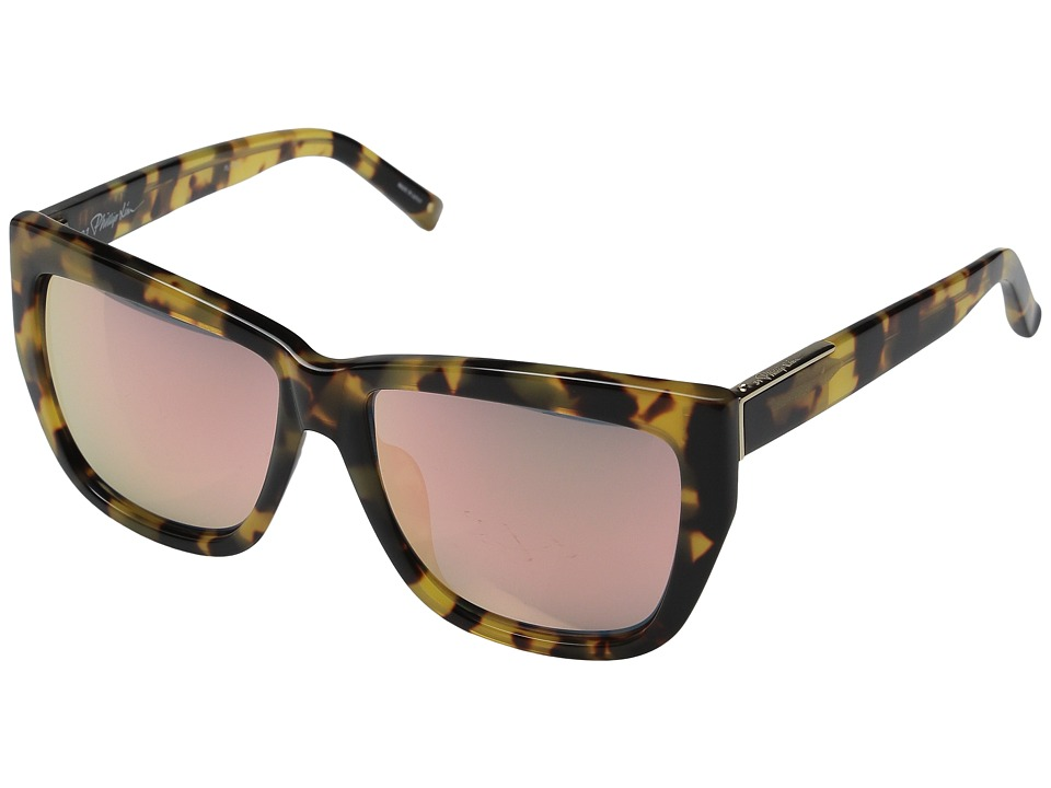 Image of 3.1 Phillip Lim - PL110C2SUN (Tortoise/Light Gold/Peach Mirror) Fashion Sunglasses