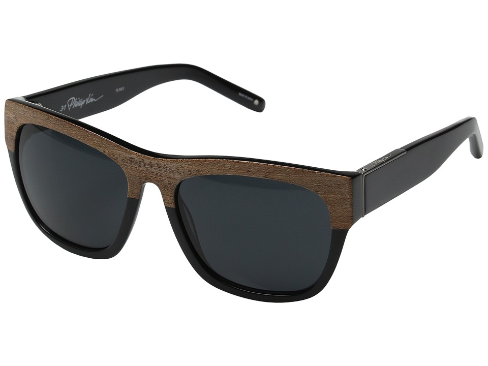 3.1 Phillip Lim PL93C3SUN Brown Wood/Black Fashion Sunglasses