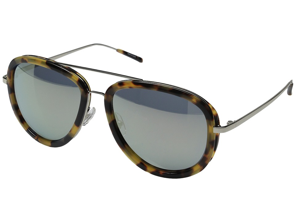 3.1 Phillip Lim PL137C2SUN Tortoise/Turquoise Mirror Fashion Sunglasses