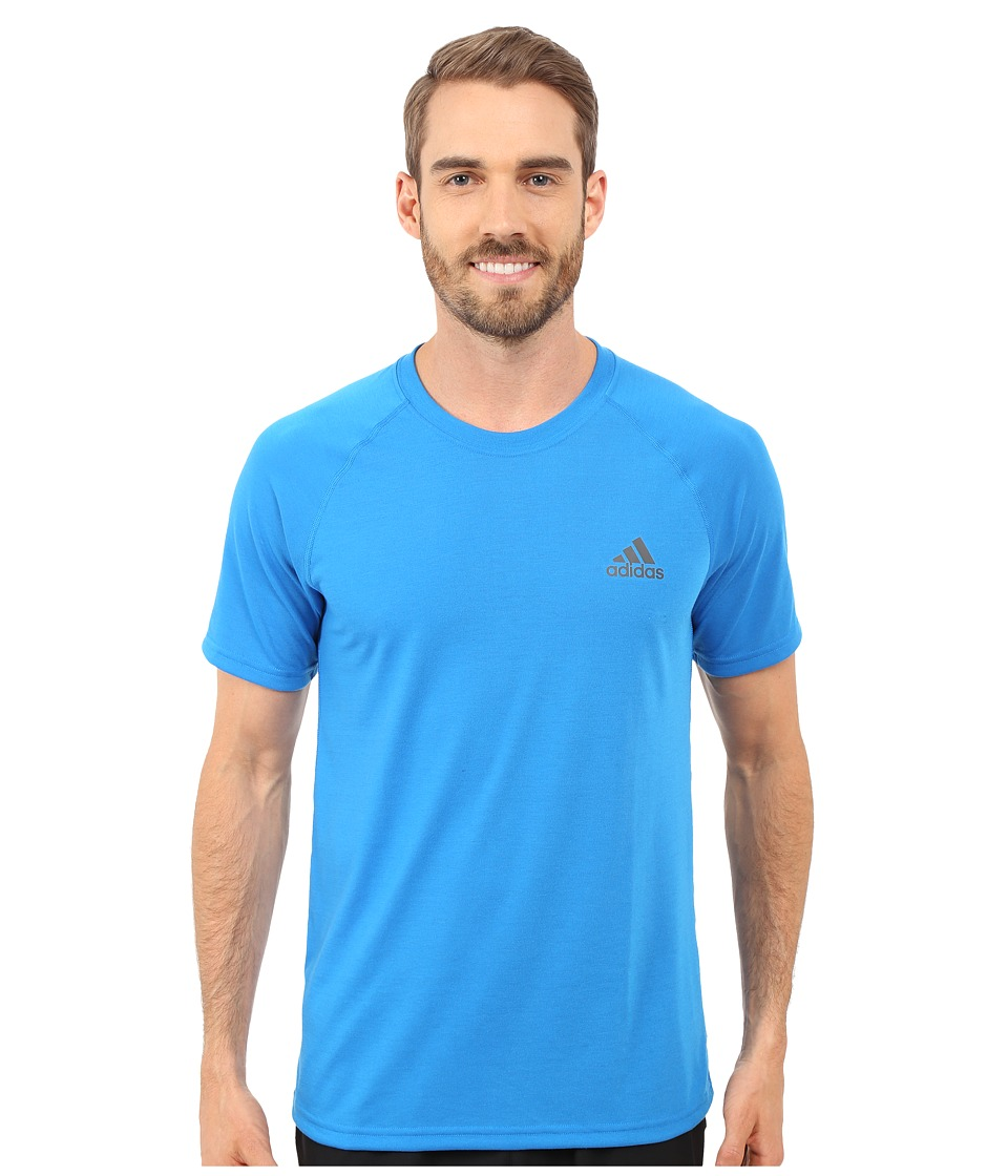 adidas - Ultimate S/S Crew Tee (Shock Blue/DGH Solid Grey) Men