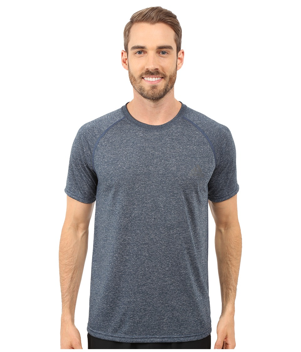 adidas - Ultimate S/S Crew Tee (Mineral Blue Heather/DGH Solid Grey) Men