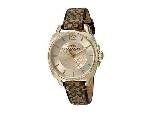 COACH Boyfriend 34mm Signature Fabric Watch