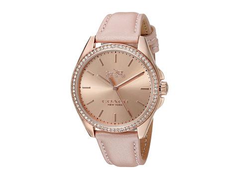 COACH Tristen 36mm Leather Watch