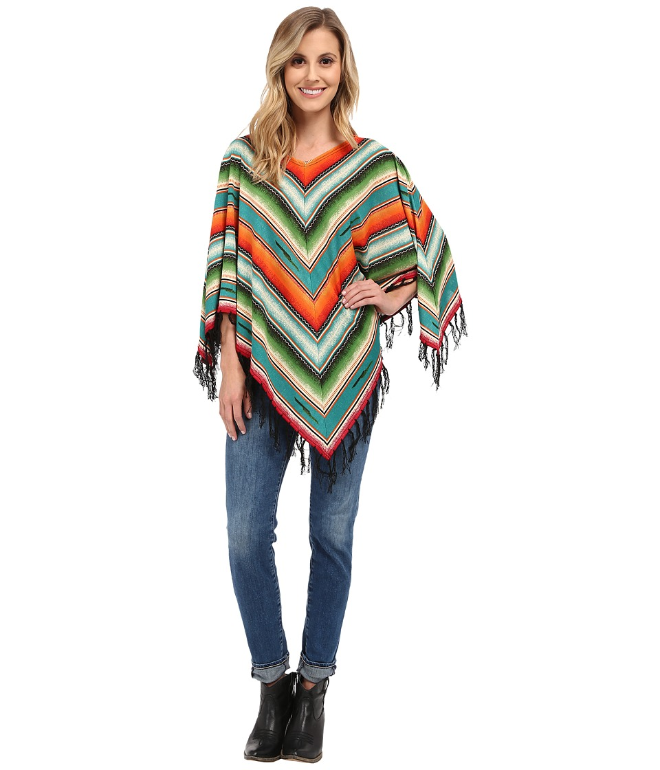 Double D Ranchwear Pachamama Serape Poncho Multi Womens Clothing
