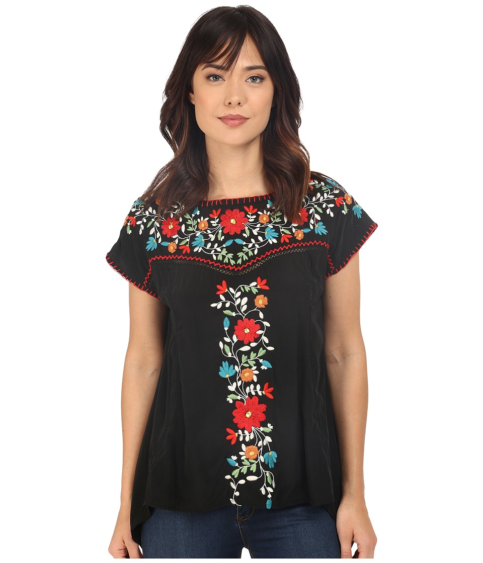Double D Ranchwear Mercado Top Black Womens Blouse