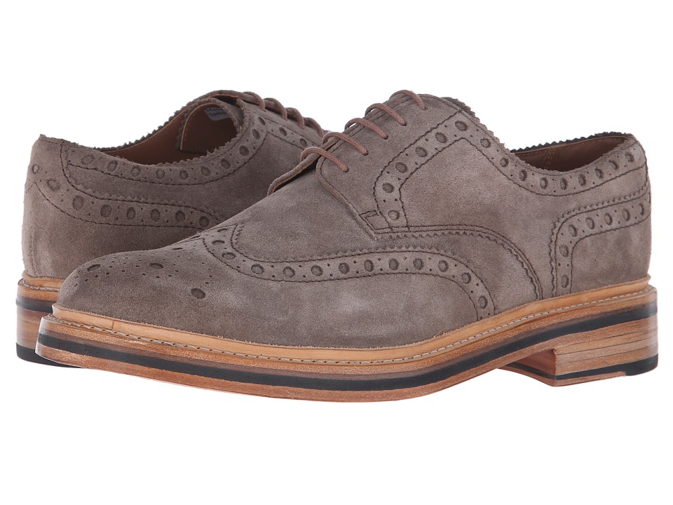 Grenson Archie Almond Suede Mens Lace up casual Shoes