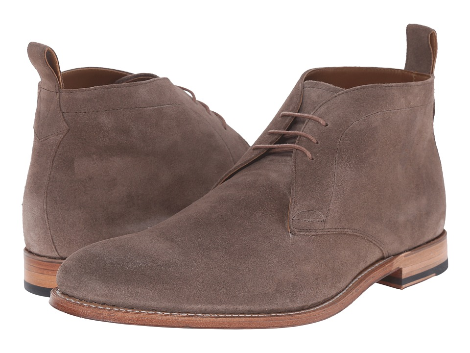 Grenson Marcus Almond Suede Mens Lace up Boots