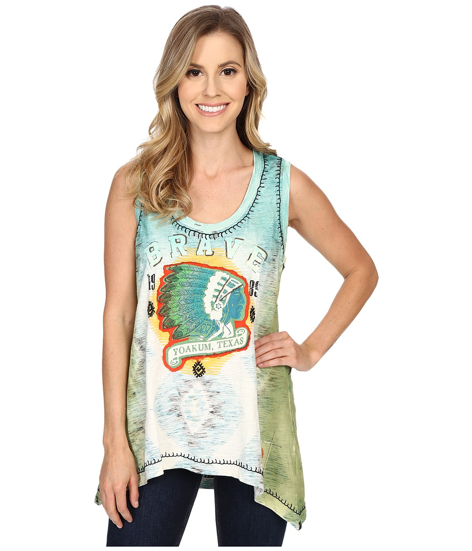 Double D Ranchwear Home of the Brave Tank Top String Womens Sleeveless