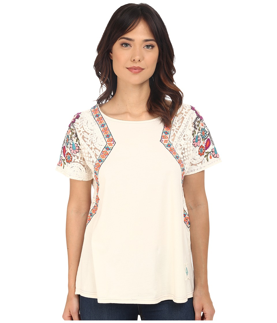 Double D Ranchwear Hacienda Top String Womens Short Sleeve Pullover
