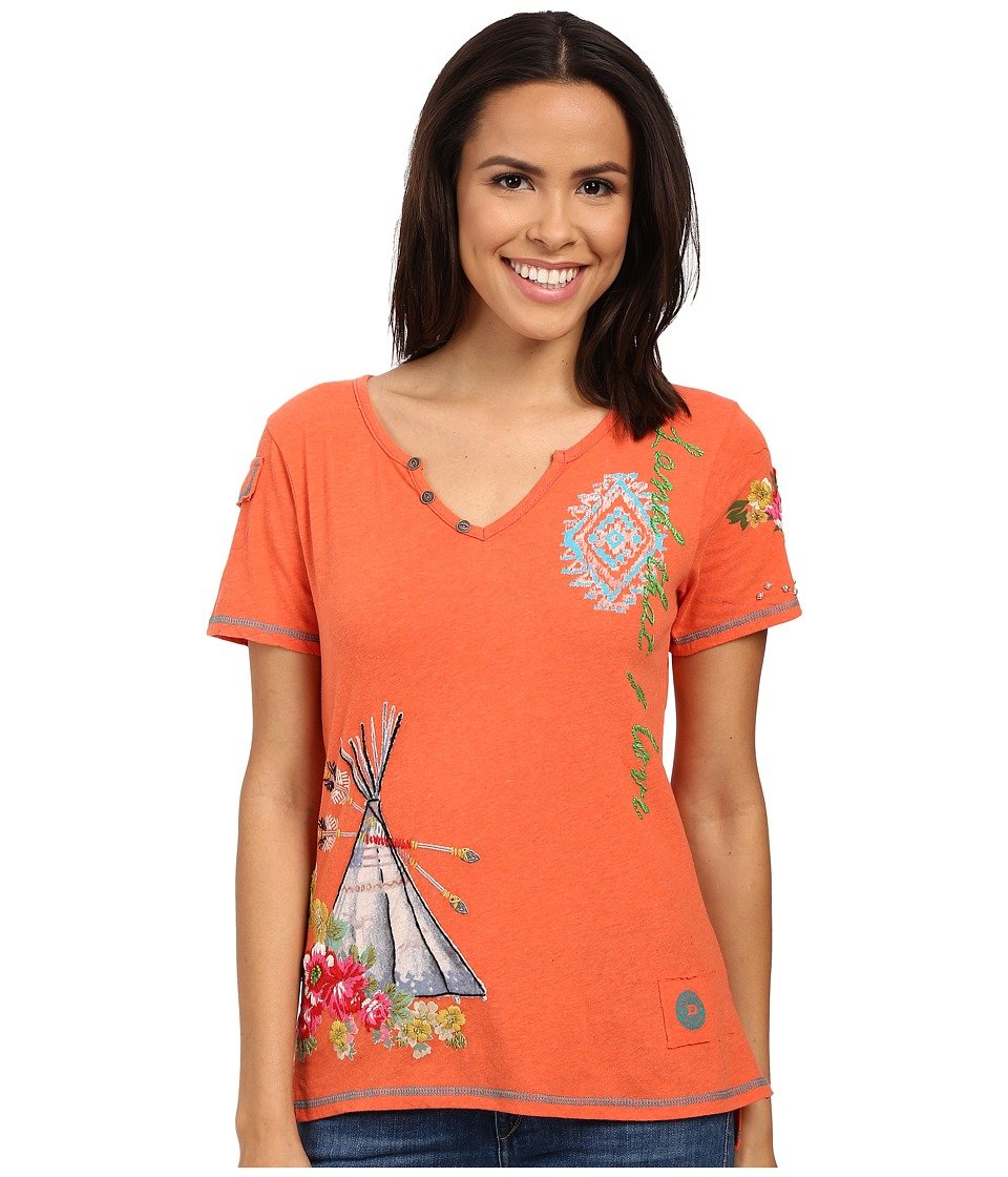 Double D Ranchwear Shamans Dream Tee Apricot Womens T Shirt