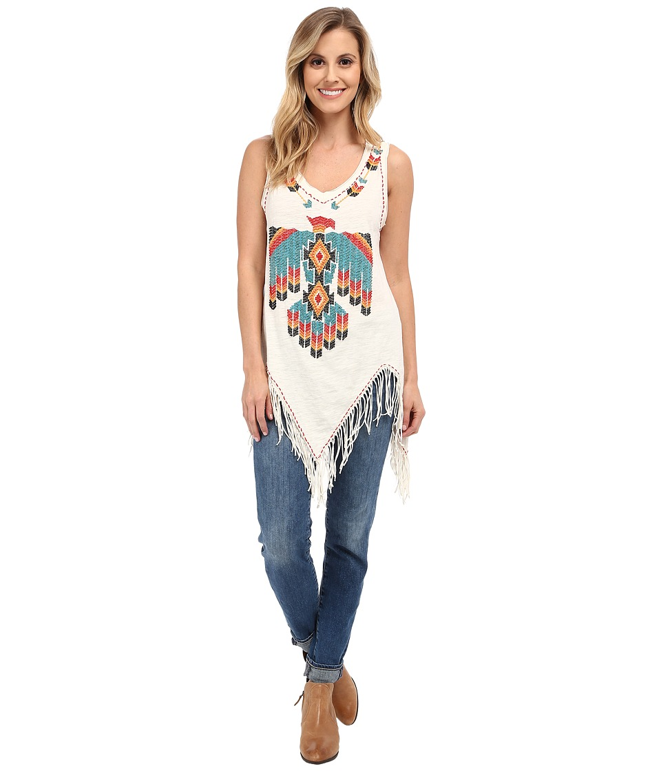 Double D Ranchwear Lone Flying Eagle Tank Top String Womens Sleeveless