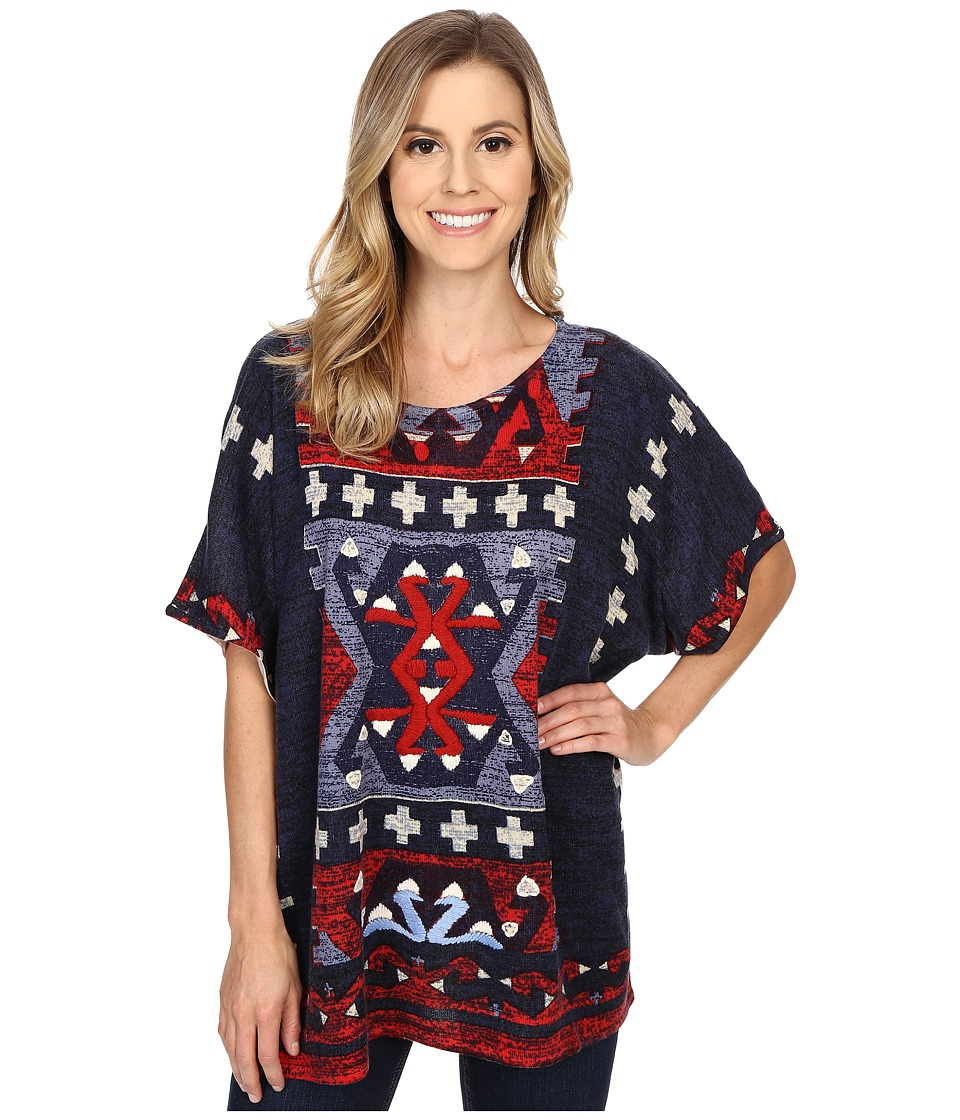 Double D Ranchwear Calling Four Directions Top Multi Womens Clothing