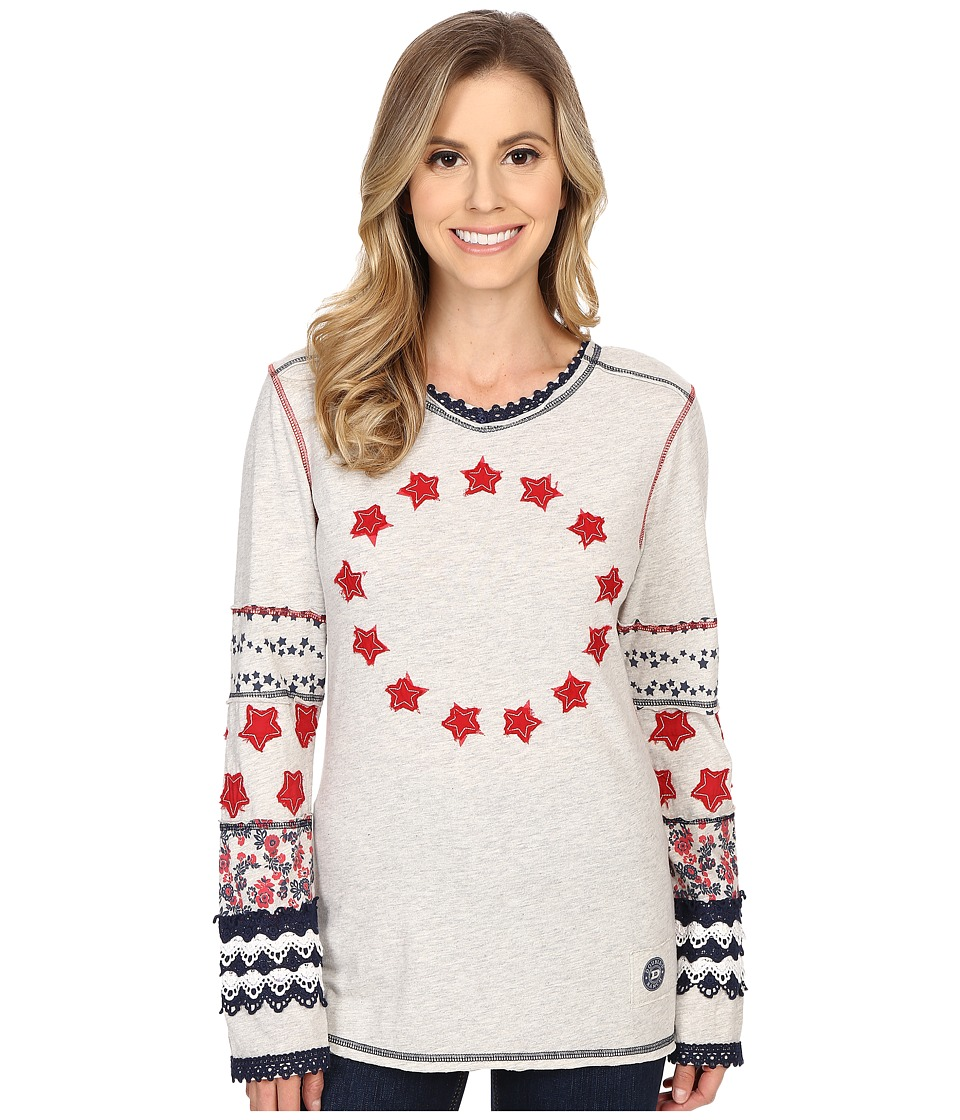 Double D Ranchwear By the Star Spangled Light Tee Gray Womens T Shirt