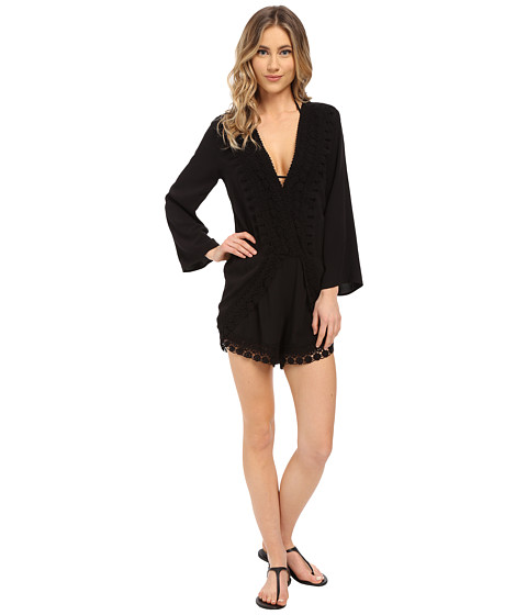 La Blanca Costa Brava Romper Cover-Up - Black