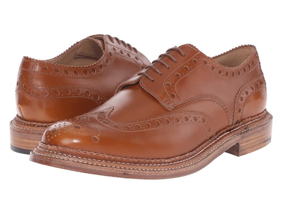 Grenson Archie Triple Welt Amber Rub Off Calf Mens Shoes