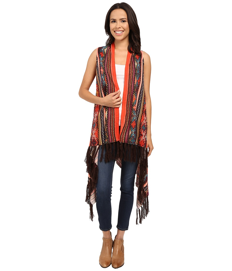 Double D Ranchwear Cusco Vest Multi Womens Sweater