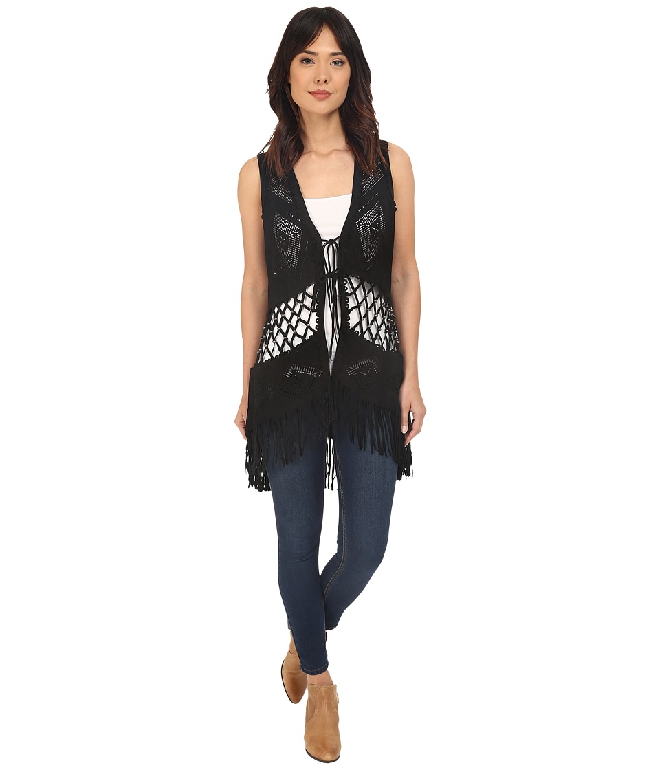 Double D Ranchwear Padilla Vest Black Womens Vest