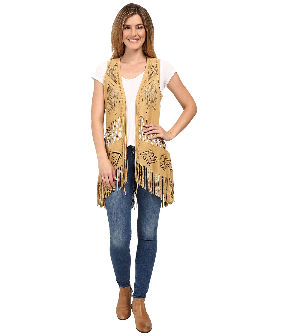 Double D Ranchwear Padilla Vest Ochre Womens Vest