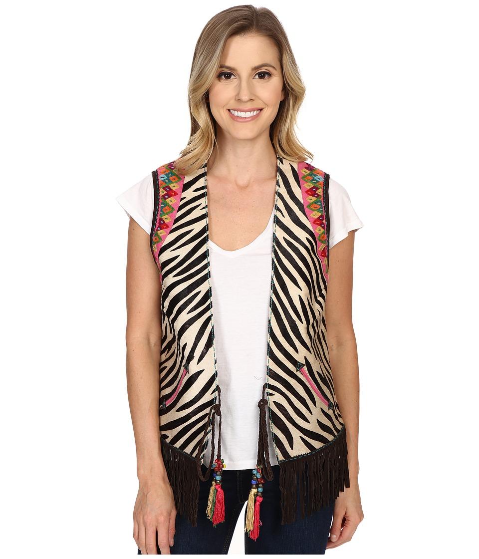 Double D Ranchwear Funk Vest Zebra Womens Vest
