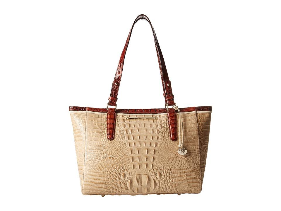Brahmin Medium Arno Twill Tote Handbags