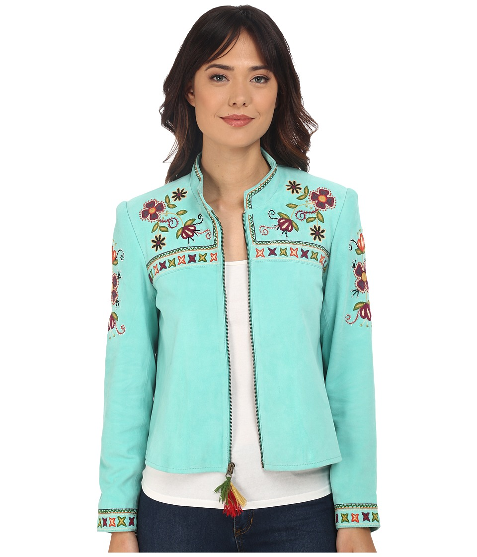 Double D Ranchwear Quechua Craft Jacket Turquesa Womens Coat