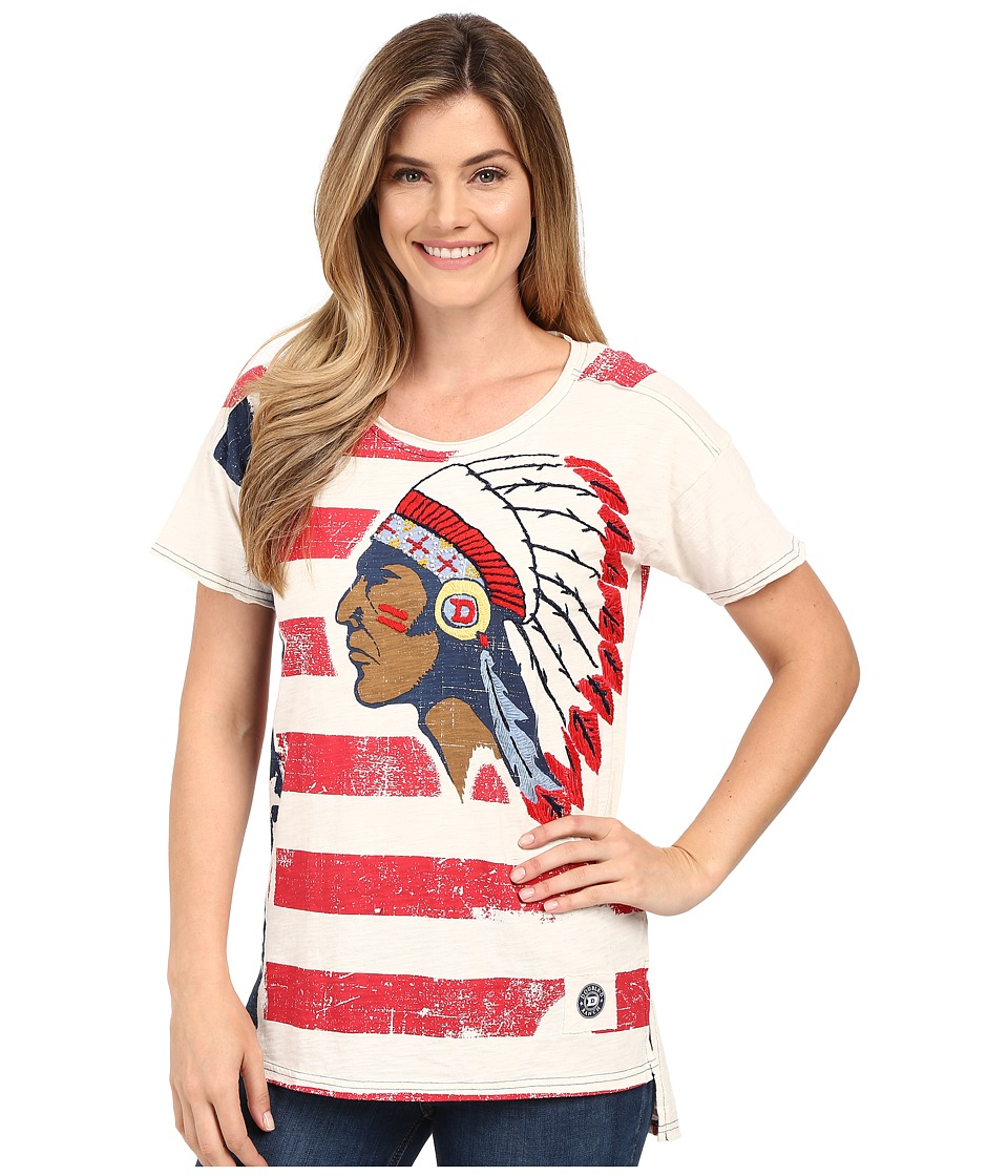 Double D Ranchwear To See Ol Glory Fly Top String Womens Short Sleeve Pullover