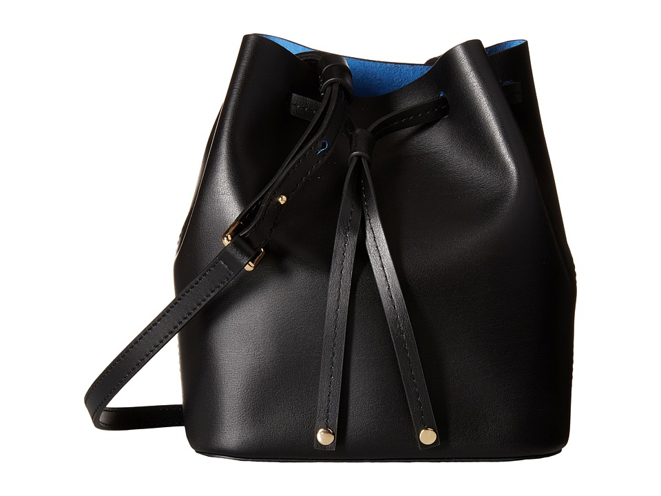 Lodis Accessories - Blair Blake Small Drawstring (Black/Cobalt) Drawstring Handbags