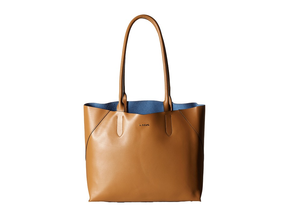 Lodis Accessories - Blair Cynthia Tote (Nutmeg/Cobalt) Tote Handbags