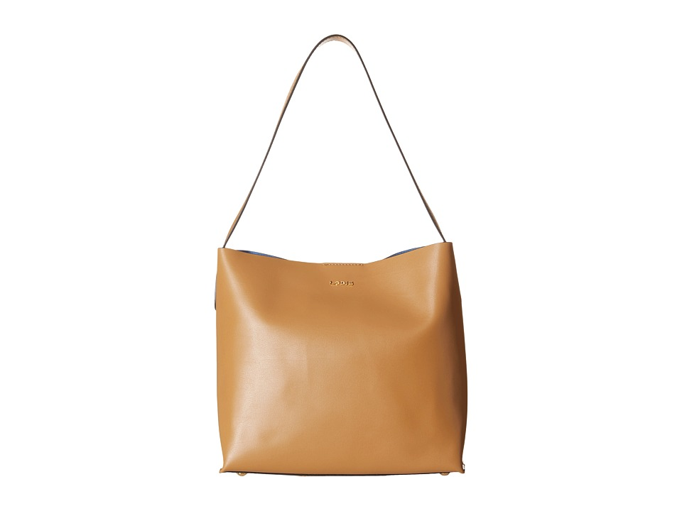 Lodis Accessories - Blair Addy Bucket (Nutmeg/Cobalt) Tote Handbags