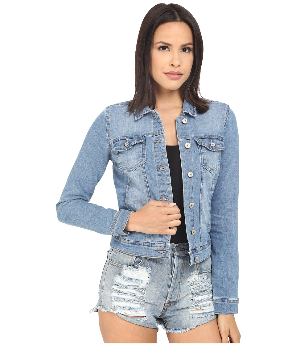 ONLY Westa Detail Denim Jacket Light Blue Denim Womens Coat