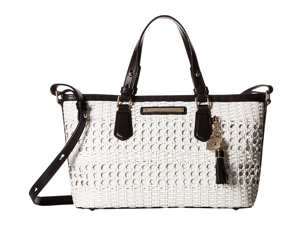 Brahmin Mini Asher White Satchel Handbags