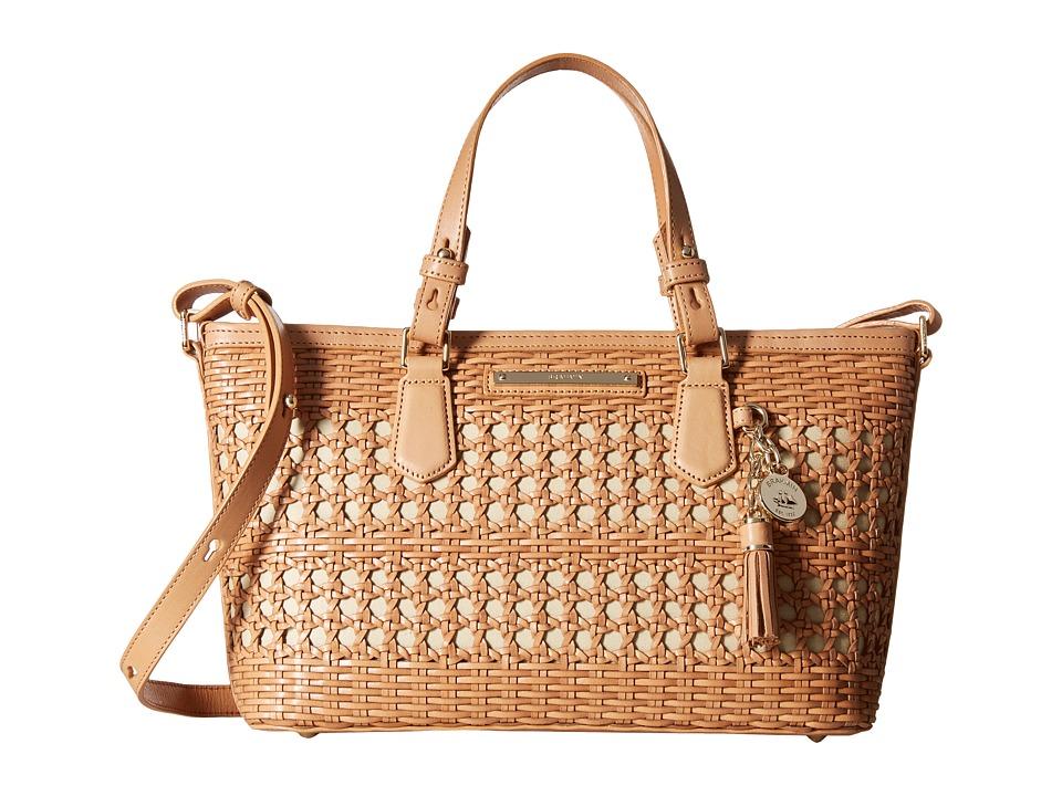 Brahmin Mini Asher Natural Satchel Handbags