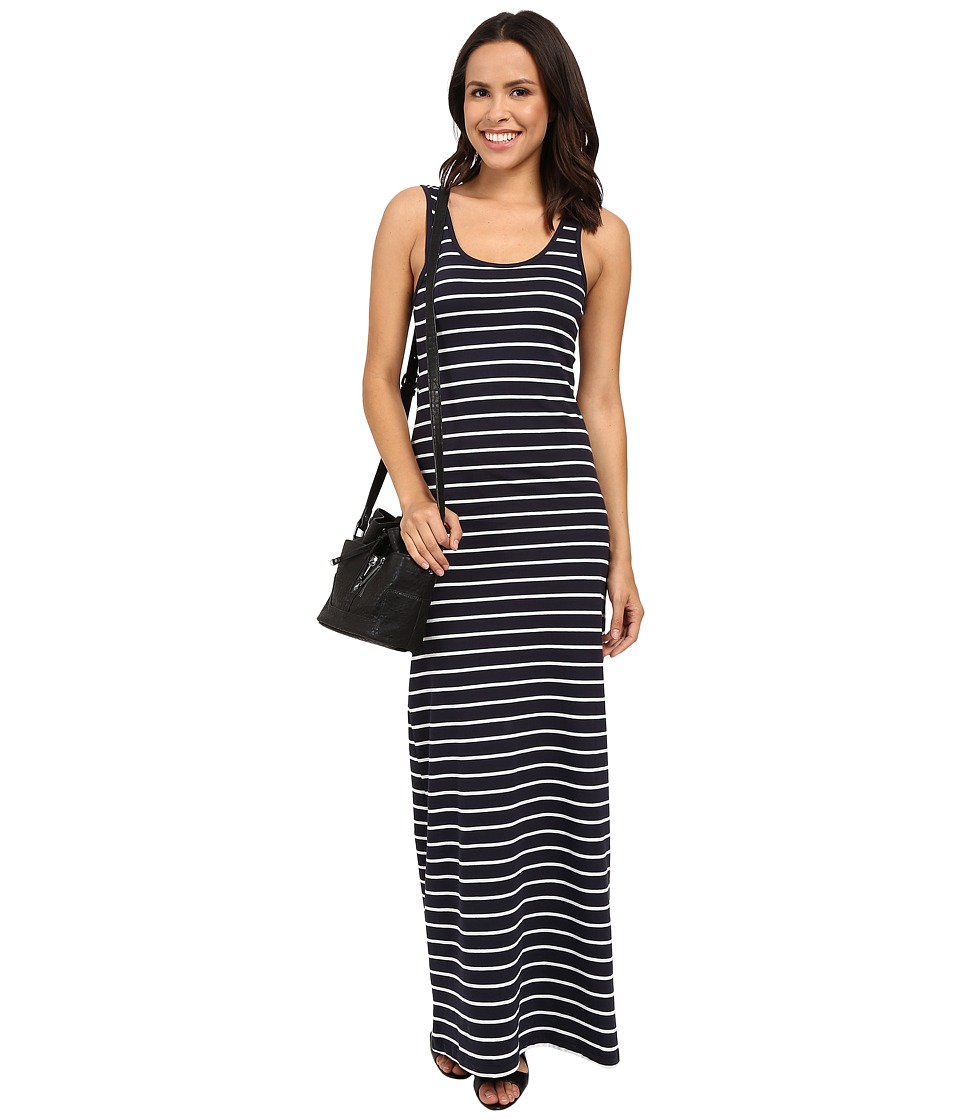 ONLY Abbie Stripe Sleeveless Long O Neck Dress Night Sky/White Medium Stripe Womens Dress