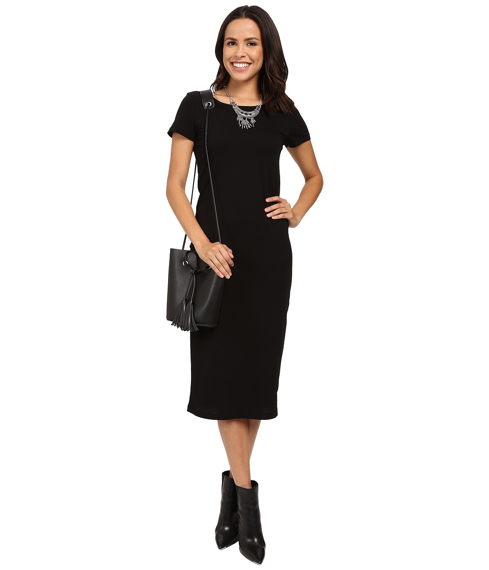 ONLY Abbie Short Sleeve Calf Dress Black Womens Dress