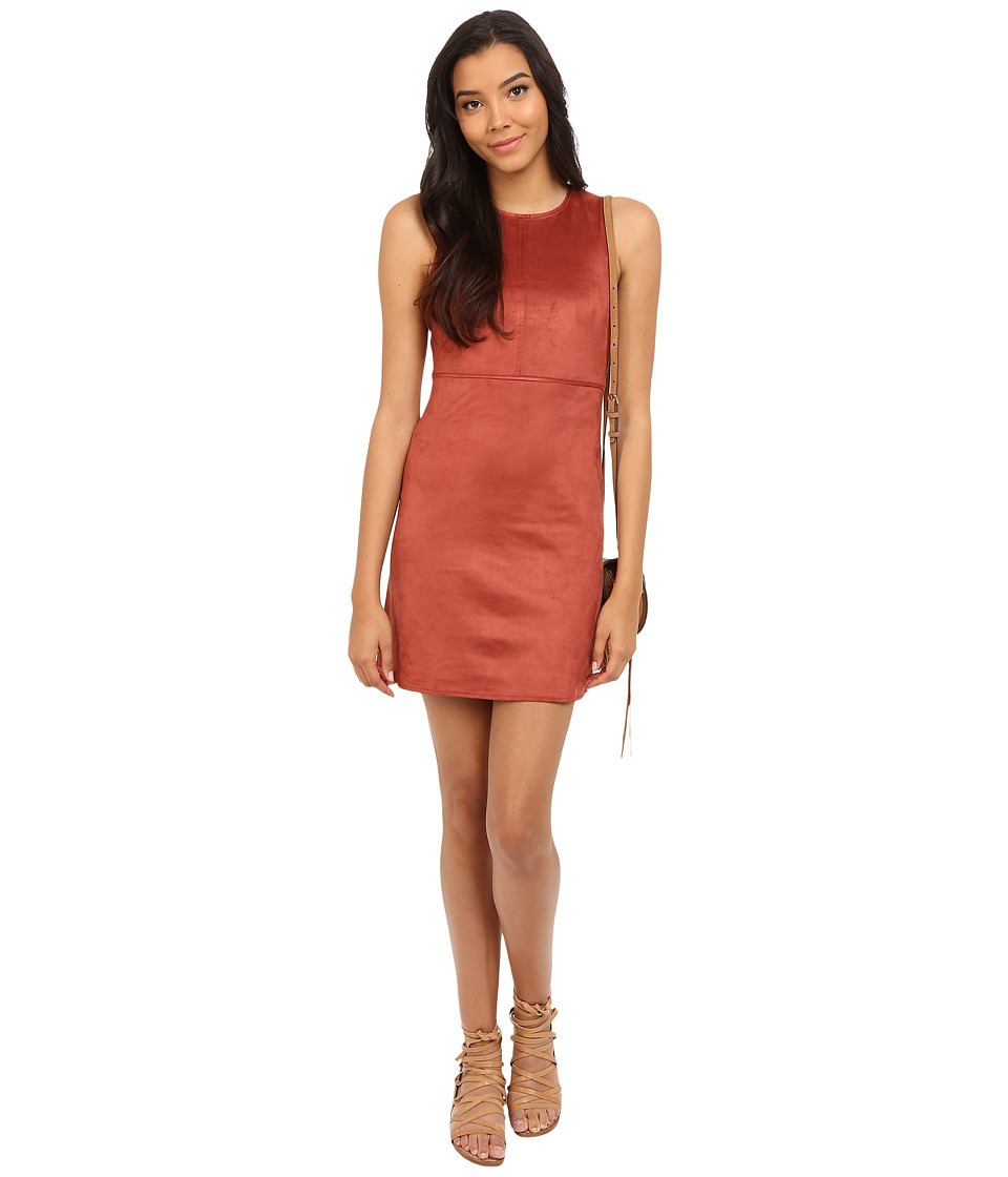 ONLY Frankie Faux Suede Dress Marsala Womens Dress