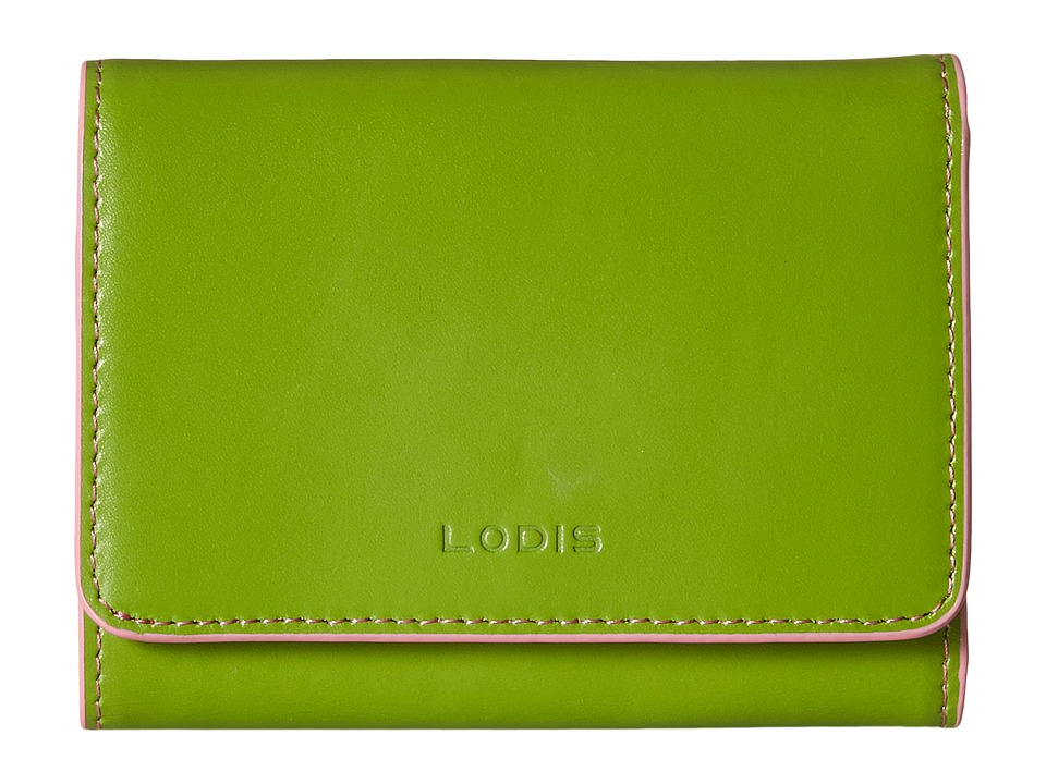 Lodis Accessories - Audrey Mallory French Purse (Kiwi/Pink) Wallet Handbags