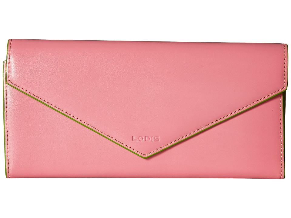 Lodis Accessories Audrey Alix Trifold Pink/Kiwi Wallet Handbags