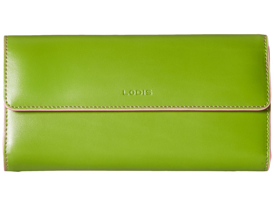 Lodis Accessories Audrey Checkbook Clutch Kiwi/Pink Wallet Handbags