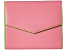 Lodis Accessories Audrey Lana French Purse (Pink/Kiwi)