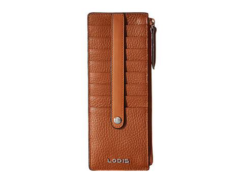 Lodis Accessories Kate Credit Card Case with Zipper Pocket - Toffee