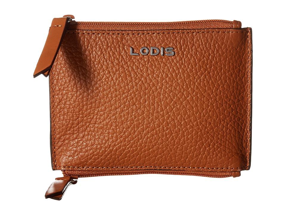 Lodis Accessories - Kate Frances Double Zip Pouch (Toffee) Wallet Handbags