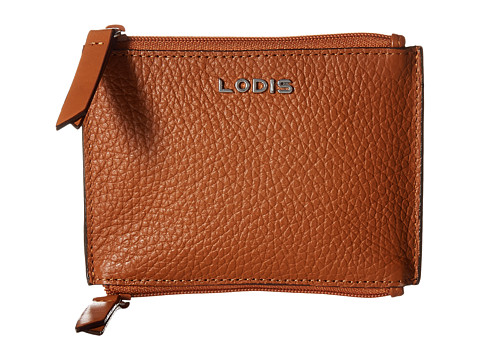 Lodis Accessories Kate Frances Double Zip Pouch - Toffee