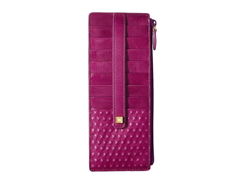 Lodis Accessories - Cadiz Credit Card Case with Zipper Pocket (Iris) Credit card Wallet