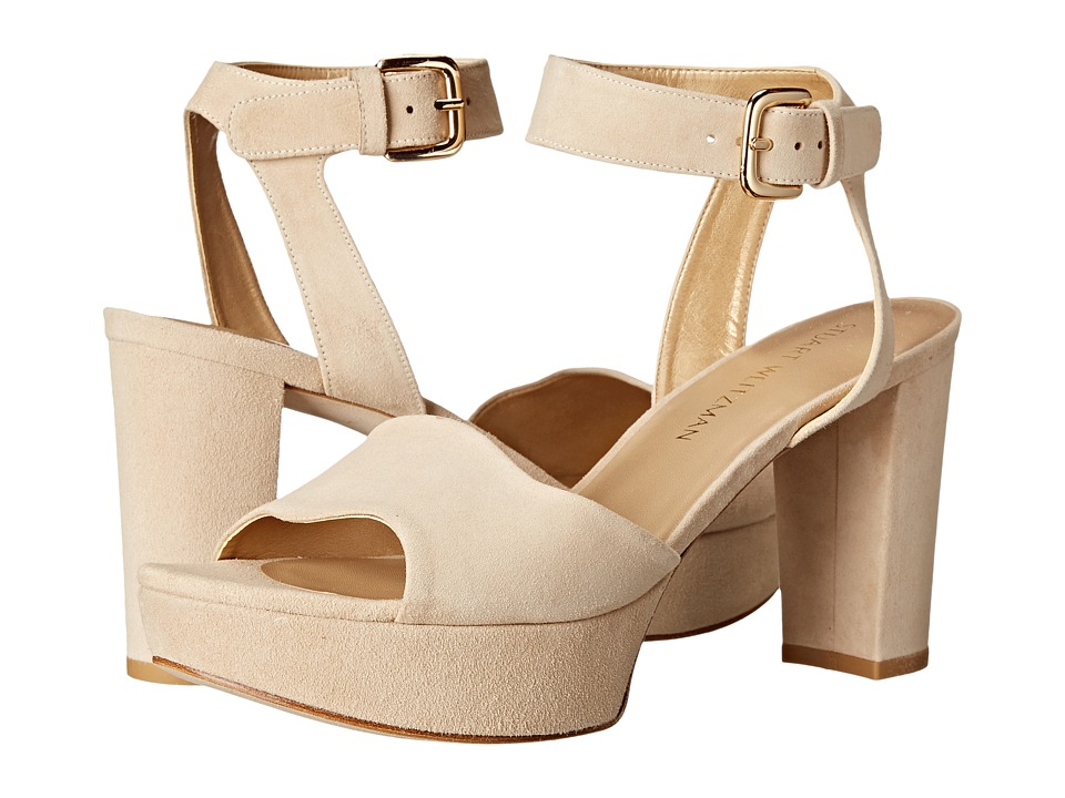 Stuart Weitzman Realdeal (Buff Suede) Wedge Shoes