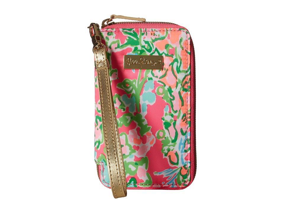 Lilly Pulitzer - Tiki Palm iPhone 6 Case (Flamingo Pink Southern Charm) Clutch Handbags