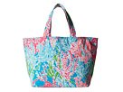 Lilly Pulitzer Beach Tote (Turquoise Lets Cha Cha Accessories)