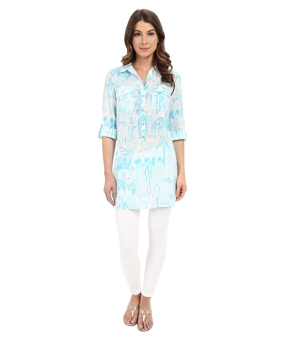 Lilly Pulitzer Captiva Tunic Resort White La Via Loca Womens Dress