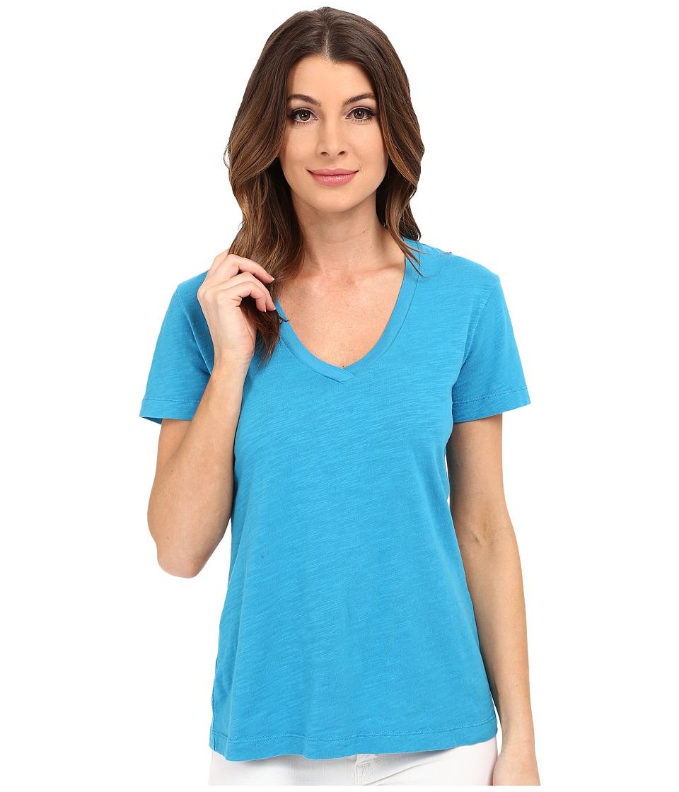 Mod o doc Slub Jersey Short Sleeve V Neck Tee Hypnotic Womens Short Sleeve Pullover